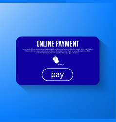 online payment via internet services vector image