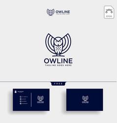 Owl bird business consulting logo template vector