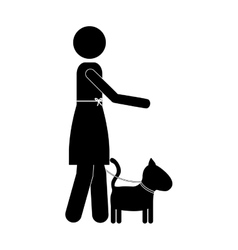 pet dog icon image vector image