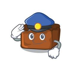 Police brownies character cartoon style vector