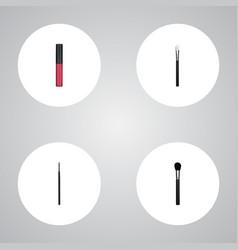 realistic liquid lipstick contour style kit vector image