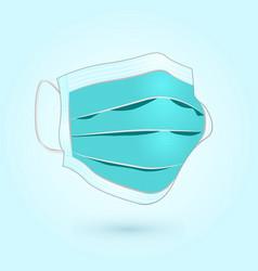 Realistic-medical-face-mask-design vector