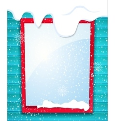 Rectangular window vector image