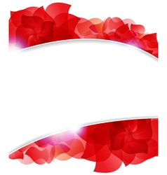 Red petals frame vector