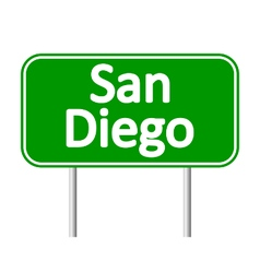 San diego green road sign vector