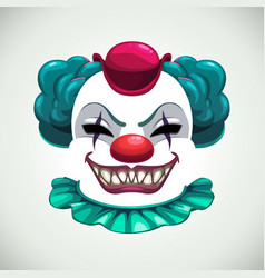 Scary circus concept creepy clown mask vector