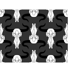 Skull cow pattern head of skeleton bull vector