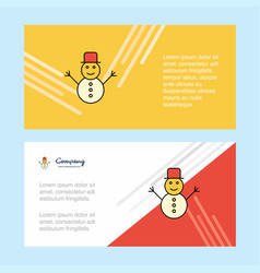 snowman abstract corporate business banner vector image