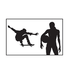 Sports and athletics silhouette vector image