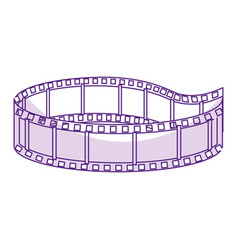Tape cinema isolated icon vector