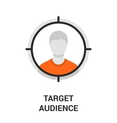 target audience icon vector image