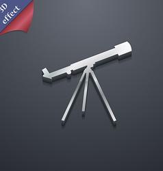 Telescope icon symbol 3D style Trendy modern vector image