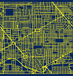The night neon purple map city is a vector