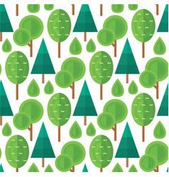 tree outdoor travel natural seamless pattern vector image