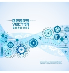 Various Gears With Cogwheels Background vector