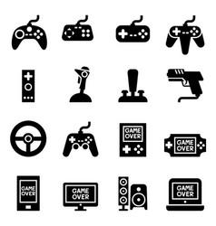 video game controller joystick gamepad icon vector image