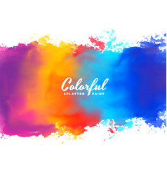 Watercolor background hand paint splash in many vector