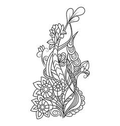 Zentangle floral pattern Doodle art flowers vector