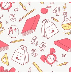 Back to school doodle objects background Hand vector image