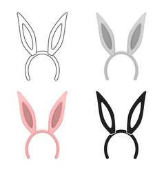 bunny headband icon in cartoon style isolated on vector image vector image