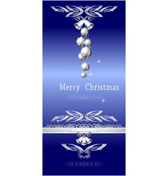 Christmas blue silver vector