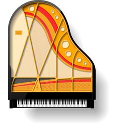 Grand piano interior vector image vector image