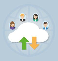 people using cloud vector image