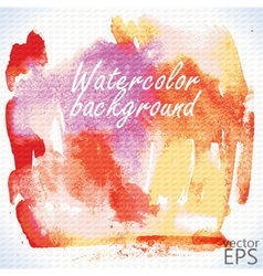 Watercolor hand painted shape vector image