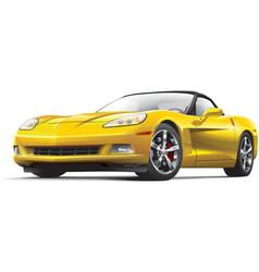 American luxury sports car vector image vector image