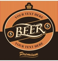 beer label premium vector image vector image