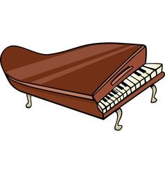 piano clip art cartoon vector image vector image