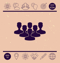 team of professionals icon vector image