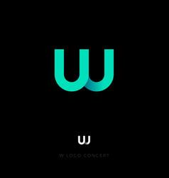 w logo letter monogram pipe vector image
