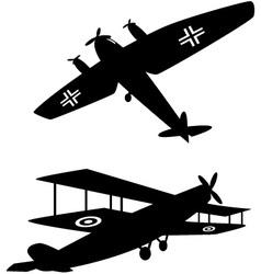 World War One planes vector image