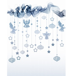 Abstract background with wave and angels vector image vector image