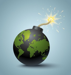Bomb global vector image