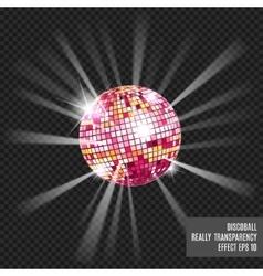 Disco ball Disco background vector image
