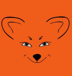 fox red head animal sly eyes vector image