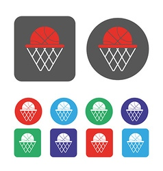 Basketball objects icon vector image vector image