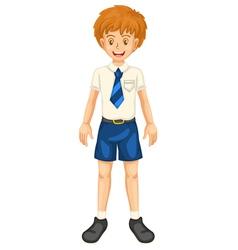 Boy in school dress vector image vector image