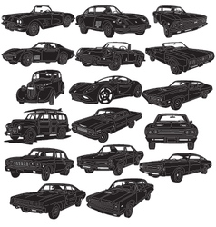 Cars Package Detailed vector image vector image