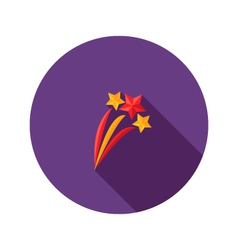 Christmas Festive Stars Flat Icon vector image
