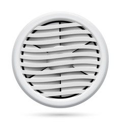 Electric plastic fan isolated on white background vector