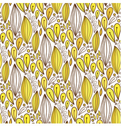 floral seamless pattern in yellow color spring vector image