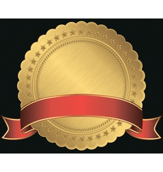 Golden Sticker Labels vector image vector image