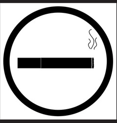 sign zone smoke vector image vector image