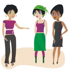 Talking Girls vector image