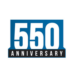 550th anniversary icon birthday logo vector image