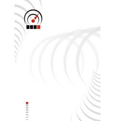 abstract paper gray circles sensor sign form vector image vector image