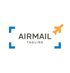 airplane travel logo emblem design vector image